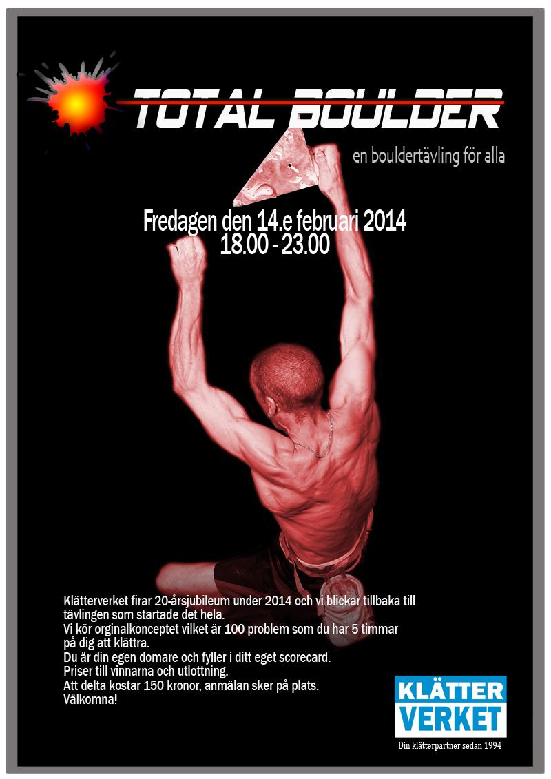 Total Boulder – Klätterverket firar 20år med tävling!